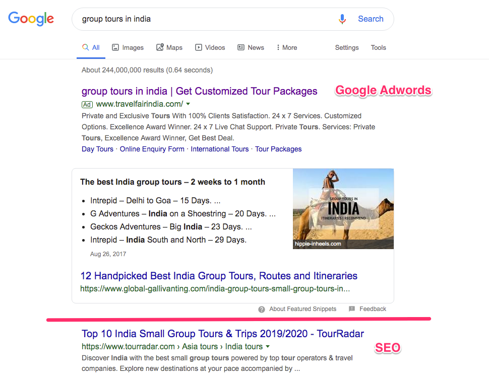 Travel-Adwords-vs.SEO
